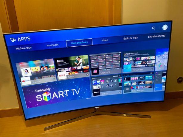 "TV curva 4K topo de gama SAMSUNG 9000 Quantum Dot 49"" como nova"