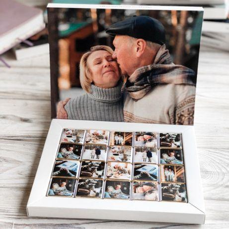 Шоколадный сладкий набор на подарок с вашими фото под заказ 1-5 дней