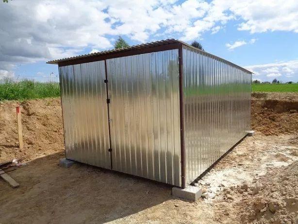 Garaż blaszany 3x4 3x5 3x6 Blaszak Schowek na budowę Garaże PRODUCENT