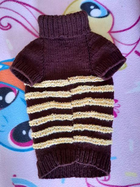 Вязаная одежда свитер для собак таксы