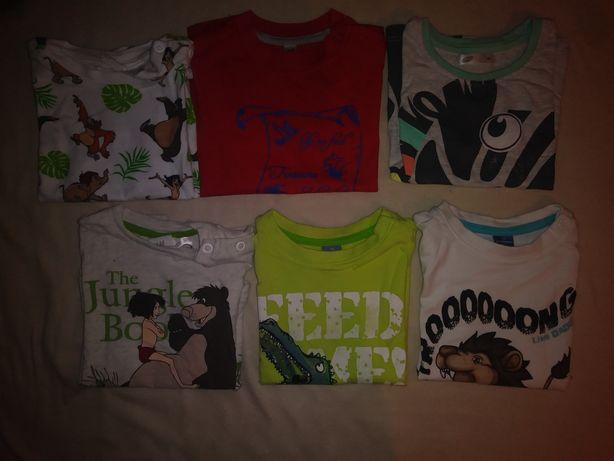 Zestaw 6 sztuk koszulek na lato H&M dopo mini i inne 74
