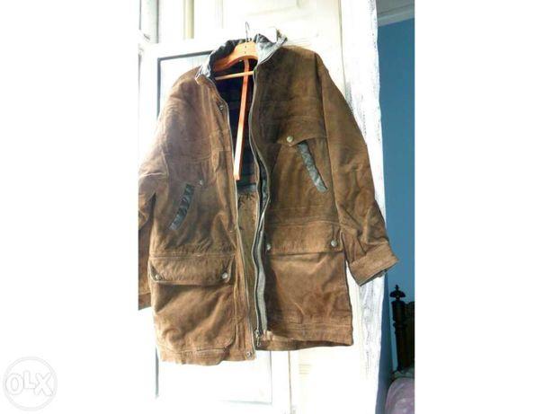 casaco pele de porco forrado e acolchoado