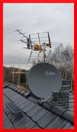 MONTAŻ regulacja ustawianie AnTeN SAT DVB-T LTE 24/7 Długołęka okolice