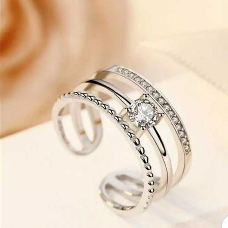 Anéis Ajustáveis banhado a prata925 Envio GRÁTIS