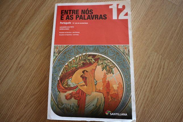 """Manual+caderno de atividades """"Entre nós e as palavras""""Português 12ºano"""