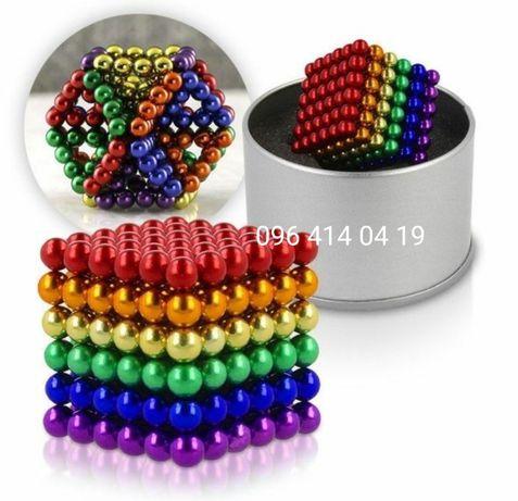 Неокуб цветной 5мм NEOCUBE MIX головоломка 216 шариков неокуб радуга
