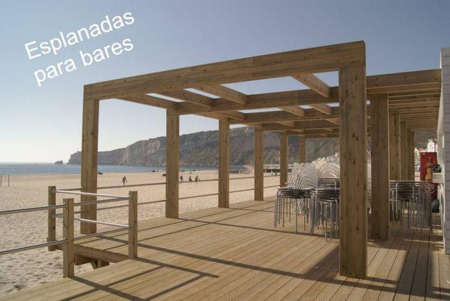 Esplanadas, Decks para Bares, restaurantes, Jardins, e Piscinas