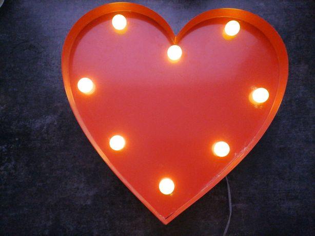 Lampki Led serce