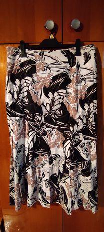 długa trapezowa spódnica w kwiaty, r. 46 (16)