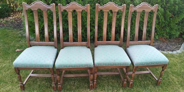 Krzesła 4 szt. antyk, stare, drewniane stan bdb