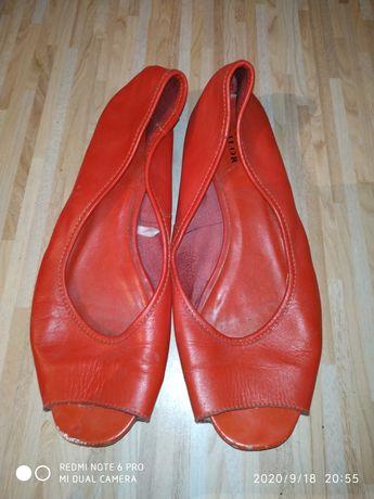 Туфли тапочки красные. Размер 37
