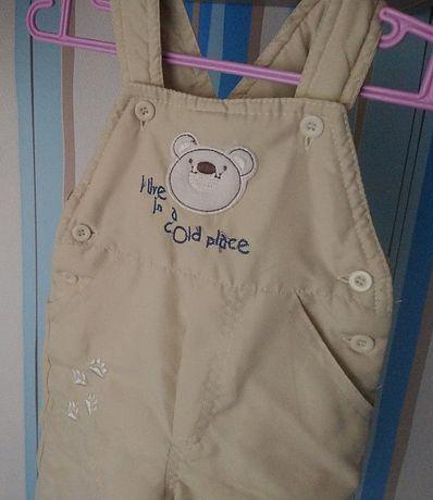 spodnie zimowe ocieplane wodoodporne ciepłe szelki