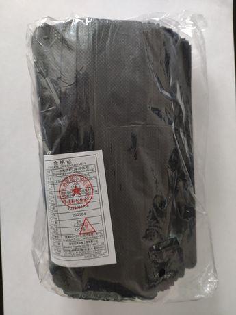 Czarne maseczki ochronne z gumkami 150 szt
