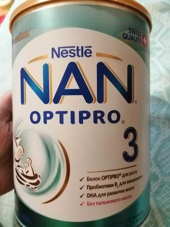 Смесь NAN OPTIPRO 3  из баночки взято 7 ложечек