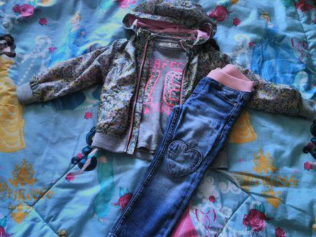 Стильный комплект(свитер,джинсы) для юной модницы,HM,next,wojcik