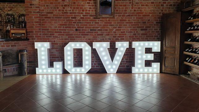 Wynajem napis litery LOVE ! Dekoracje ślubne i weselne Elbląg