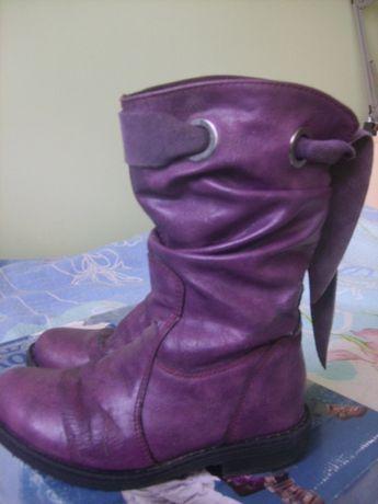 Kozaki buty na zimę Kornecki r. 30 fioletowe