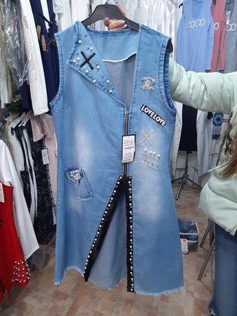 Модный женский джинсовый кардиган 42,44,46,48