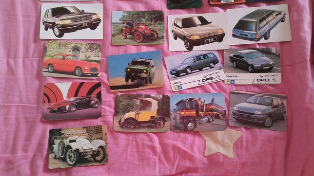 Varios calendários de carros