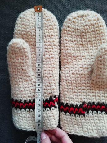 Rękawiczki wełniane hand made