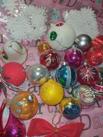 Новогодний  декор  шарики на ёлку  лот25 штук.