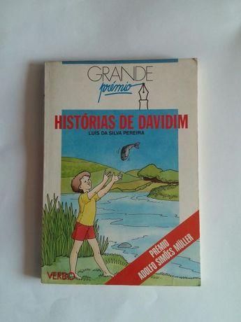"""Livro Grande Prémio """"Histórias de Davidim"""" de Luís de Silva Pereira"""