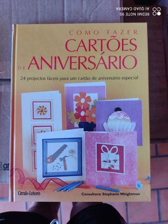 """Livro """"Como criar cartões de aniversário"""""""