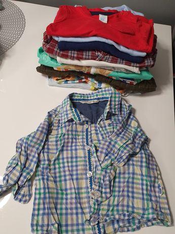 Paka ubranek, koszula, koszulki, bluzki 74/80. Hm, reserved i inne