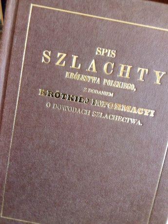 Spis Szlachty Królestwa Polskiego-książka