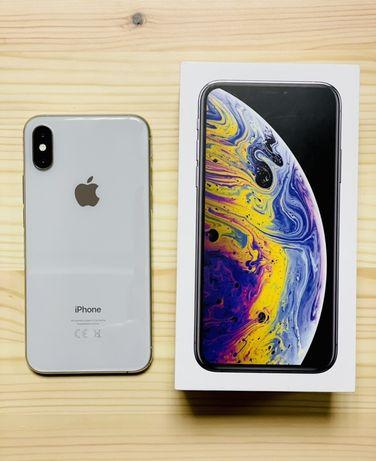 iPhone XS srebrny 256 GB, stan idealny