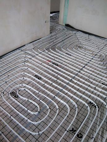 Ogrzewanie podłogowe, hydraulik, Instalacje wod kan,