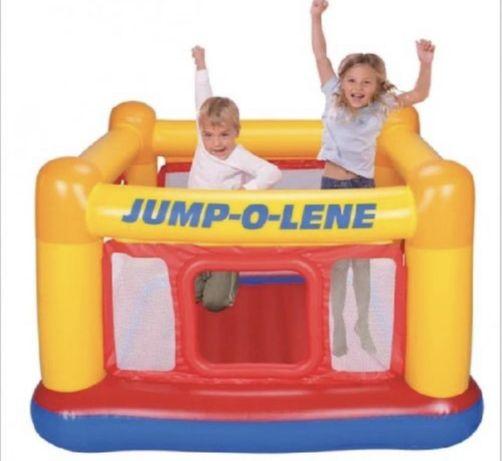 """Детский надувной батут """"Домик"""" Intex Playhouse Jump-O-Lene 48260."""