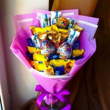 Букет з цукерок з Кіндер