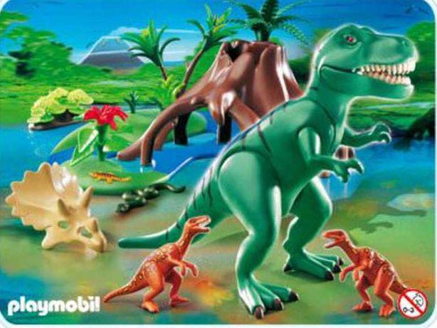 Playmobil 4171 dinozaury, Duży T-Rex, 4 figurki i mały koń
