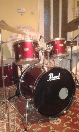 Pearl perkusja bebny  pelny zestaw - lub zamiana na gitara elektryczna