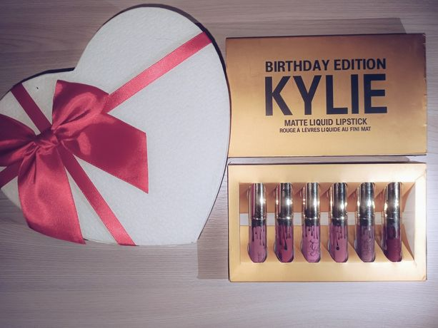 Набор жидких матовых помад  Kylie Birthday Edition  6