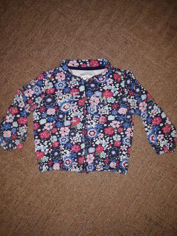 Стильная курточка, реглан (кофта на молнии) для девочки