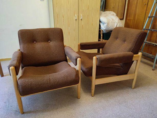 Ława rozkładana i podnoszona/stół, dwa fotele i fotel obrotowy