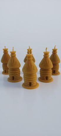 Świece z wosku pszczelego świeczki ul ule wosk pszczeli naturalne 100%