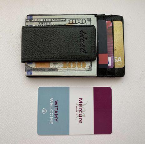 Кожаный портмоне с клипсой