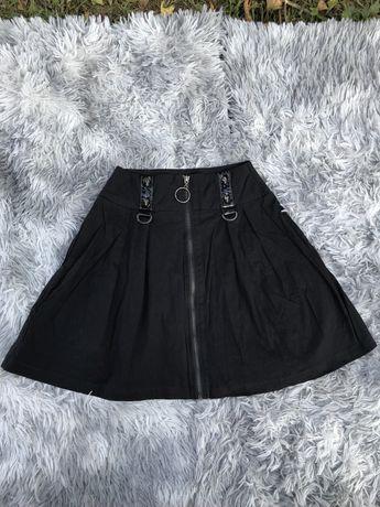 Юбка в складку  /юбка в готическом стиле/ черная юбка в складку