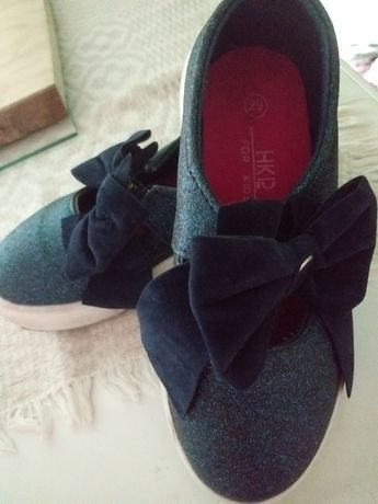 Tenisowki buty granatowe brokat