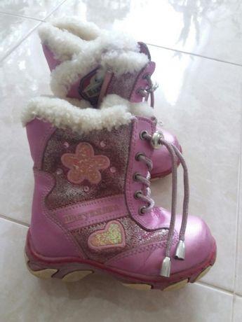 Шкіряні зимові черевички.чобітки.черевики.