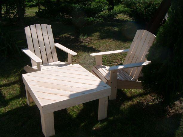 Meble tarasowe, ogrodowe, 2 fotele + stolik