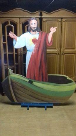 Dekoracja Komunijna/Ślubna Jezus w łodzi.