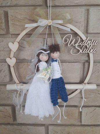 W dniu ślubu, makrama