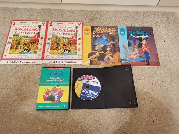 Książki CD piosenki pons do nauki angielskiego dla dzieci słownik