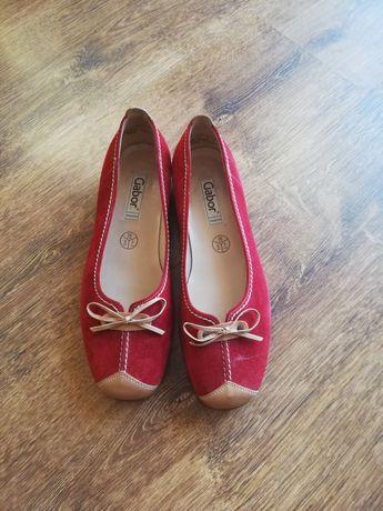 Nowe skórzane buty firmy Gabor.