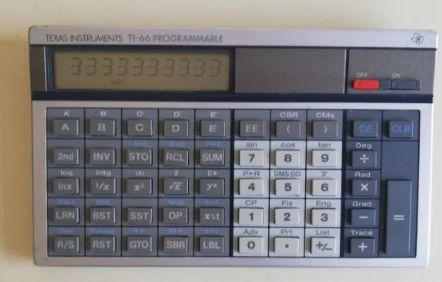 Calculadora Texas Instruments ti-66 programmable