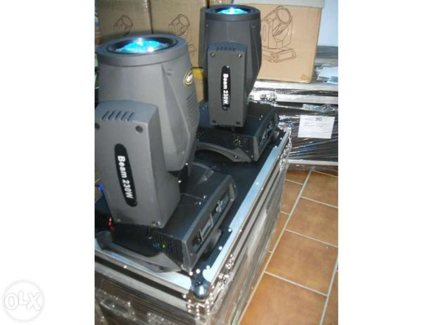 Vendo kit 2 VITRONICA PRO beam 7r + case novos